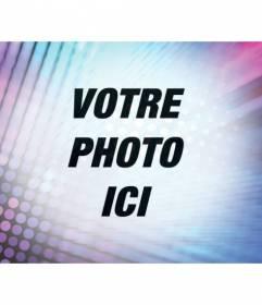 Filtrer pour éditer des photos en ajoutant un effet psychédélique avec des lumières turquoise et violet