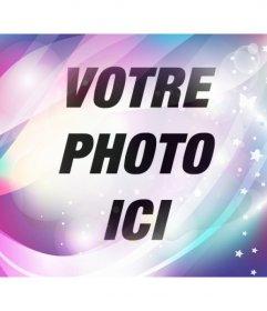 Ajouter un rêve filtre bleu et violet avec des brillants et des étoiles à vos photos et les éditer en ligne