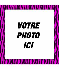 Cadre à décorer vos photos avec look urbain: un style ethnique et couleurs fluo ou couleurs