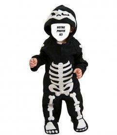 Enfants photomontages dun bébé habillé comme un