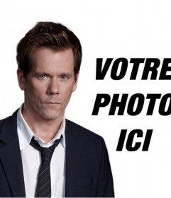 """Faire de ce photomontage et avoir une photo avec Kevin Bacon, acteur de la série TV """"de ce qui suit"""""""