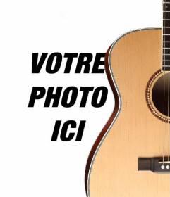 Photomontage de mettre une guitare espagnole dans une photo et ajouter du texte en ligne