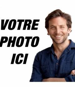 """Photomontage avec Bradley Cooper pour placer votre photo et apparaissent avec lui dans l""""image"""