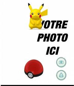 Effet photo avec Pikachu dapplication Pokemon Go pour mettre votre photo