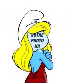 Photomontage de Schtroumpfette, la série pour enfants Les Schtroumpfs pour modifier