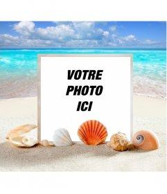Cadre photo Marine de mettre votre photo sur une plage