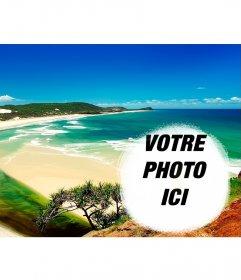 Collage de mettre votre photo à côté dune plage