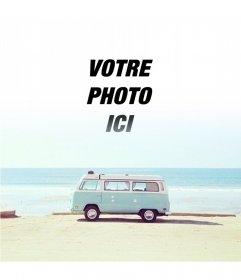 Photomontage Hipster avec un van
