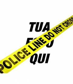 """Effet des photos pour mettre signal de la police """"POLICE LINE NE PAS TRAVERSER""""!"""