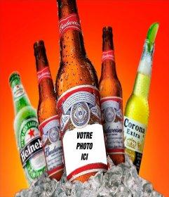 Photomontage pour mettre votre photo sur une bière