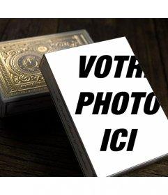 Photomontage avec une boîte de cartes