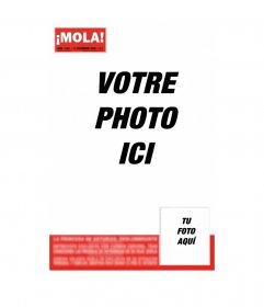 """Devenir célèbre et le sel sur la couverture de MOLA! Insérez un titre et la photo que vous préférez, vous pouvez l""""envoyer par courriel gratuitement"""