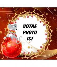 Carte enfants féliciter de Noël avec une souris