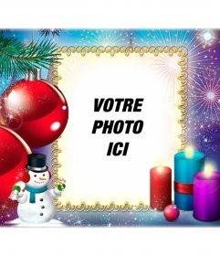 Carte postale de Noël pour vous de mettre une photo de vous