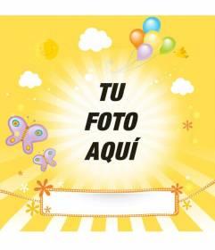 Enfant Postal avec photo personnalisée et un texte pour féliciter vos amis et votre famille lors d'occasions spéciales comme les anniversaires, la fête des mères ou la fête des pères