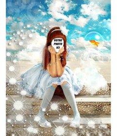 Photomontage de faire en ligne un costume de princesse pour les filles