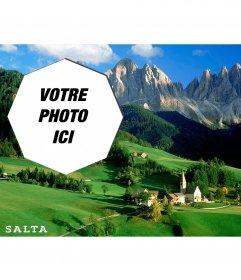Carte postale dune image de campagne magnifique de lArgentine avec votre photo
