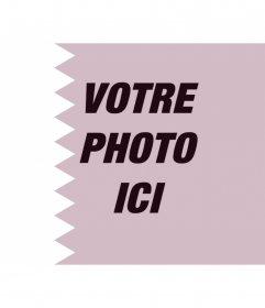 Photomontage en ligne Drapeau du Qatar et votre photo