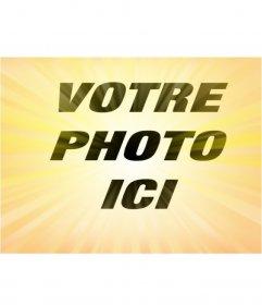 Effet photo jaune Radial pour donner effet à vos photos