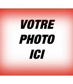 Fade filtre rouge de la frontière pour vos photos pour donner la force et la passion du rouge pourpre