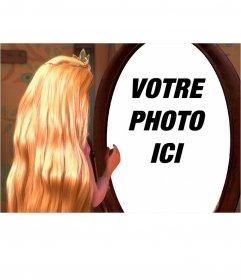 Photomontage de mettre votre photo dans le reflet de Rapunzel