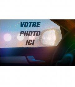 Photomontage en ligne avec la réflexion dune voiture