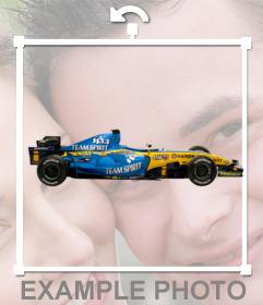 Autocollant avec une voiture de Formule 1 Renault pour votre photo