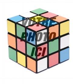 Photomontage de mettre une photo sur une couleur Rubik cube complet