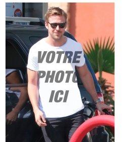 Placez votre photo sur le T-shirt de Ryan Gosling