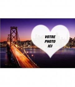 Carte postale de San Francisco au coucher du soleil
