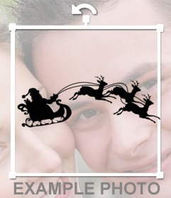 L'ombre de Snata Claus et les rennes dans votre photo