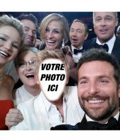 Photomontage du célèbre selfie des Oscars à faire avec votre photo
