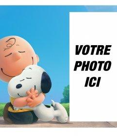 Les meilleurs amis Snoopy et Charlie Brown qui vous accompagnent dans votre photo