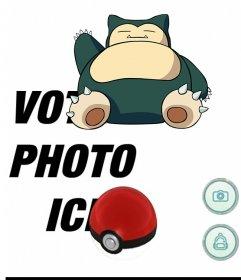 Effet photo de Pokemon Go avec Snorlax pour modifier avec votre photo