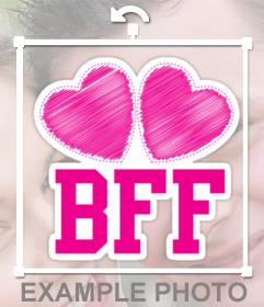 Montrer qui est votre meilleur ami avec cet autocollant de BFF icône