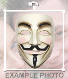 Vous pouvez porter le masque de Anonyme avec cet autocollant