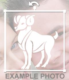 Autocollant du Bélier signe du zodiaque que vous pouvez placer sur vos photos