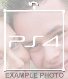 Logo de la Playstation 4 pour mettre sur vos photos