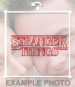 Logo des célèbres choses série Stranger comme autocollant à coller dans vos photos