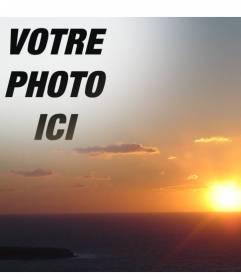 Avec ce montage, vous pouvez éditer un coucher de soleil sur la côte, faire un collage avec une réduction de votre photo. Idéal pour les visages