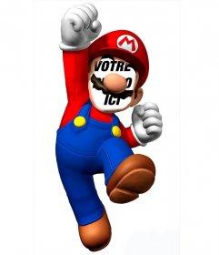 Photomontage de mettre votre visage sur Super Mario et amusez-