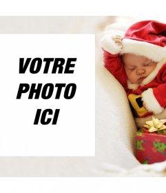 Noël effet photo avec un bébé pour télécharger votre photo