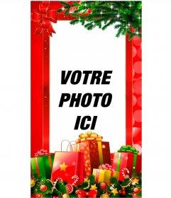 Cartes de Noël pour Facebook Stories et instagram