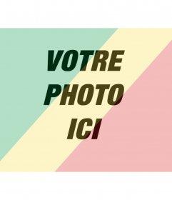 Mettez le drapeau de la République du Congo avec votre photo, à faire en ligne