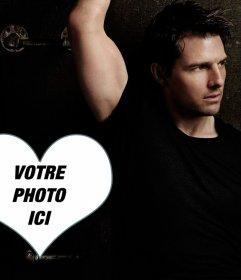 Photomontage avec un cœur à côté de Tom Cruise