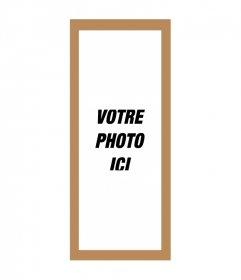 Cadre photo pour les images triple 3 images avec le fond brun et blanc