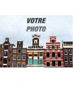 Collage spécial avec une photo dAmsterdam