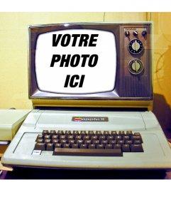 Montage photo avec un vieil ordinateur