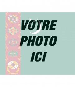 """Effet photo pour fusionner les pays de l  """"drapeau du Turkménistan avec la photo que vous téléchargez"""