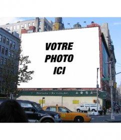 """Photomontage Billboard d""""un immeuble où vous pouvez mettre une photo"""
